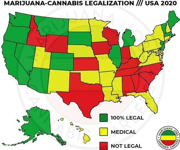 Marijuana Cannabis Legalization USA 2020